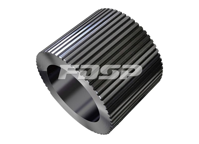 Open-end grooved roller shell