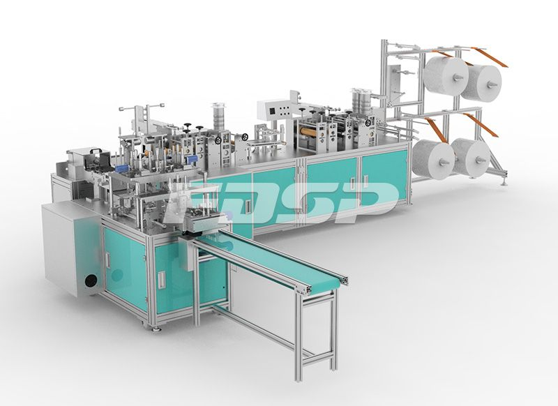 Full automatic KF94 face mask machine (one driving one)