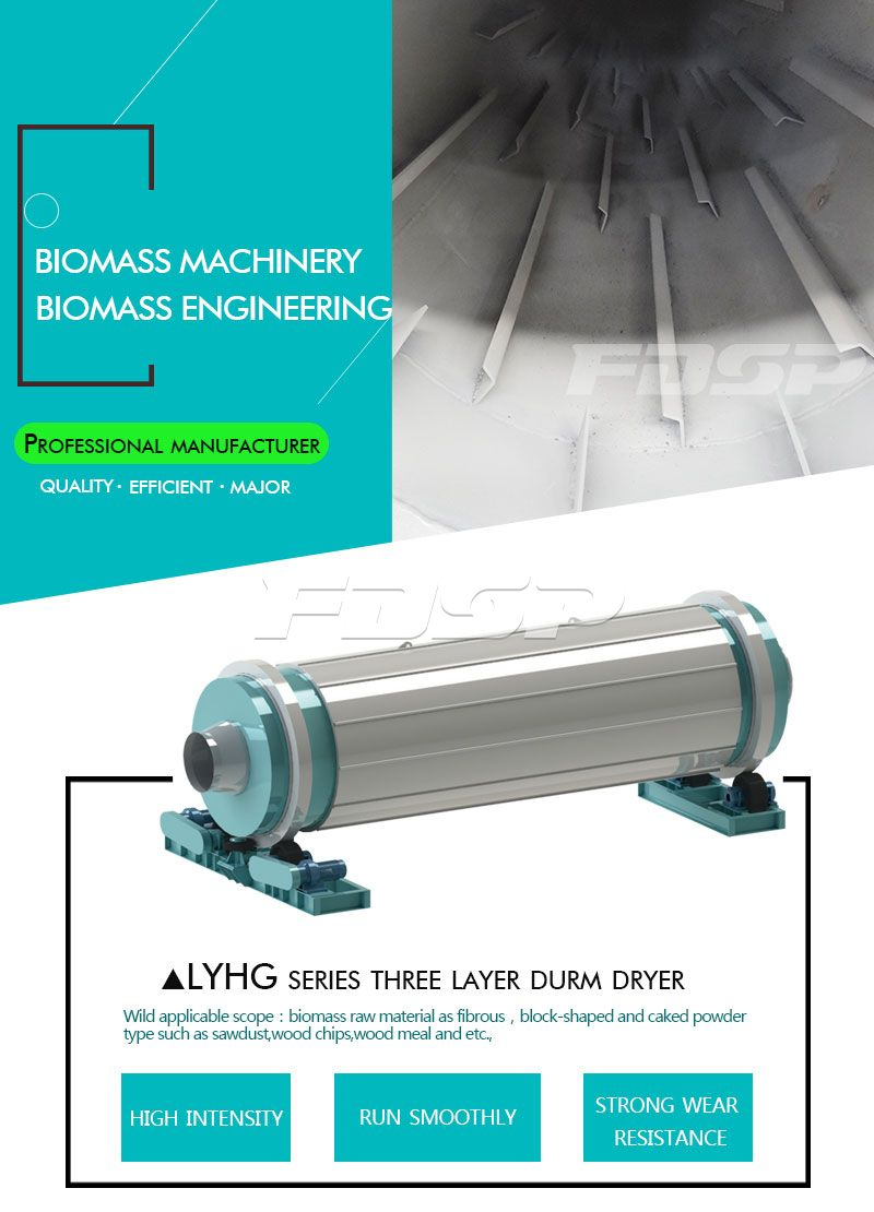 LYHG Series Three Layers Drum Dryer