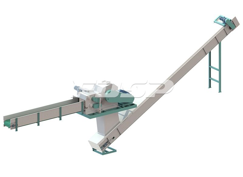 5-7tph wood logs pelleting line