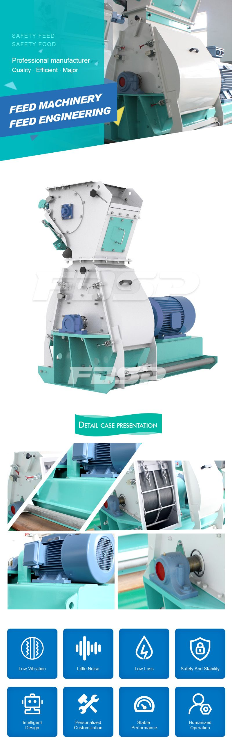 Feed Machine SFSP568 Series Tear Circle Hammer Mill